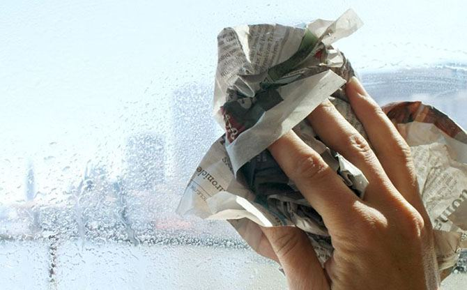 Dry the window with a clean paper