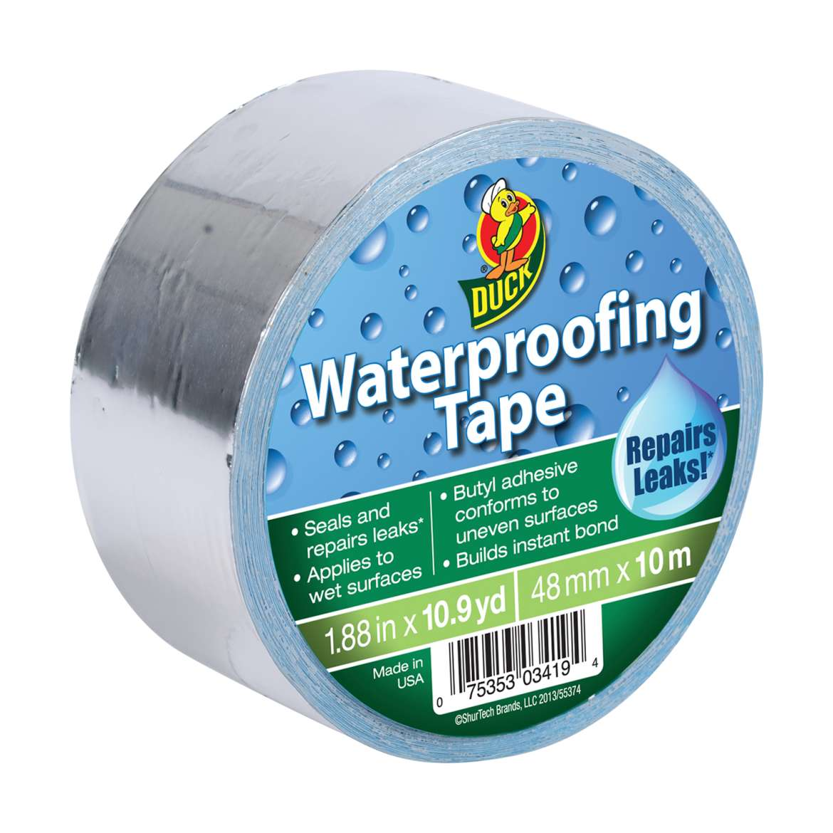 Using waterproof repair tape for sealing leaks